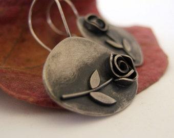 Sterling Silver Asymmetric Earrings