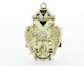 Free Mason Gold Watch Fob