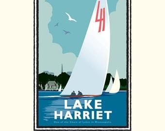 Landmark MN | Lake Harriet Sail by Mark Herman