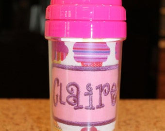 Girly Cupcake Sippy Cup - Personalized w/ Name or Monogram - SIPPY or STRAW Top options