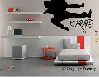 Karate Wall Decal - Karate Decal - Kids room Karate - Karate