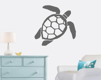 Turtle Wall Decal - Sea Turtle - Beach Decal - Beach Decor - Cottage - Turtle Wall Decor - Gift Idea - Kids Room - Living Room