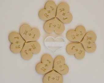 Custom Wedding Initials Heart Cookie Cutter