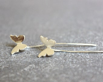 Butterfly earrings, Silver butterfly earrings, sterling silver earrings, butterfly stud earrings, butterfly jewelry