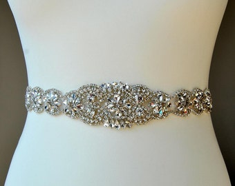 Bridal Sash,Wedding Dress Sash Belt, Rhinestone Sash, Rhinestone Bridal Bridesmaid Sash Belt, Wedding dress sash belt