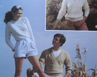 Knit and Crochet Pattern Book - by Patons and Susan Bates #17635 - Vintage 1983