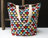 Large Coloured Canvas Tote - Handmade in Australia