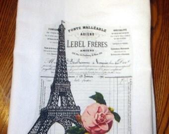 Kitchen Towel Flour Sack Paris Eiffel Tower
