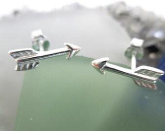 Large Arrow earrings- Sterling Silver*