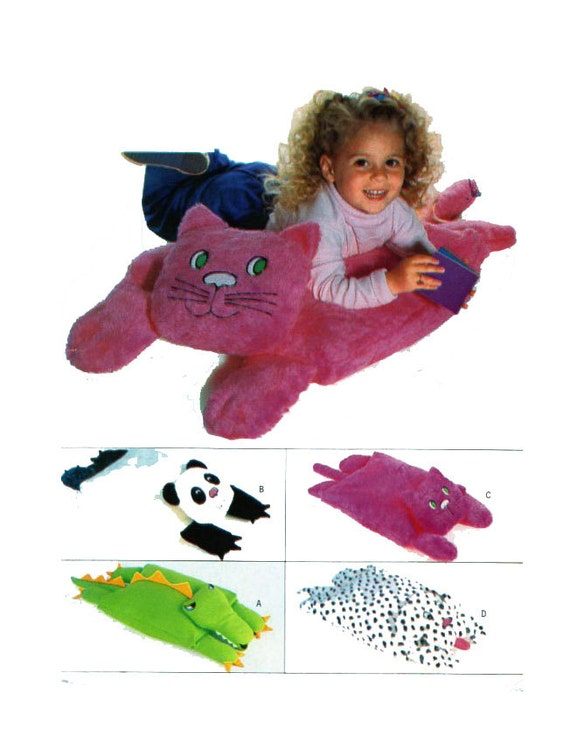 Big Animal Floor Pillows : Kids Floor Pillow Large Animal Pillow Butterick 4224 375