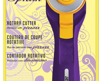 Olfa Splash 45mm Rotary Cutter; Purple; Features Quick Change Blades; RTY-2C/PR; Quilt/Sewing Cutting Tool