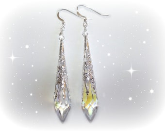 Swarovski AB Crystal dangle earrings