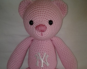 YANKEE the Bear - Crochet Amigurumi Bear - Crochet Teddy Bear - Handmade Crochet Amigurumi
