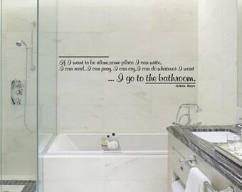 wall art decal alicia keys bathroom quote vinyl sticker home decor kwds shower door toilet