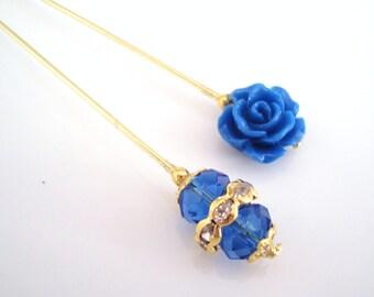 Denim Hijab Pins Set- Stick Pins / Hat Pins / Decorative Pins / Eid Gifts / Bridal Gifts / Gift ideas / Pin set / Hijab Pins / Pins
