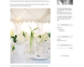 """Premade Blogger template """"All the boys"""", instant download for Blogspot Blogs, grey and black, professional easy to use, professional"""