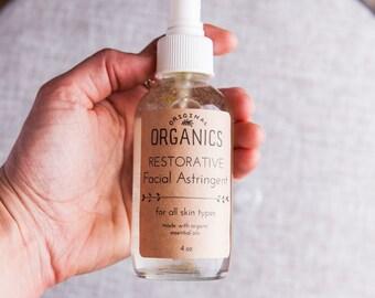 RESTORATIVE Organic Facial Astringent - 4 oz // Geranium • Bergamot • Patchouli