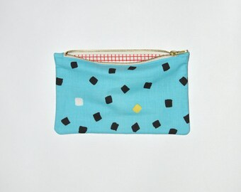 VINTAGE ZIP PURSE #47 The small one / geometric pattern