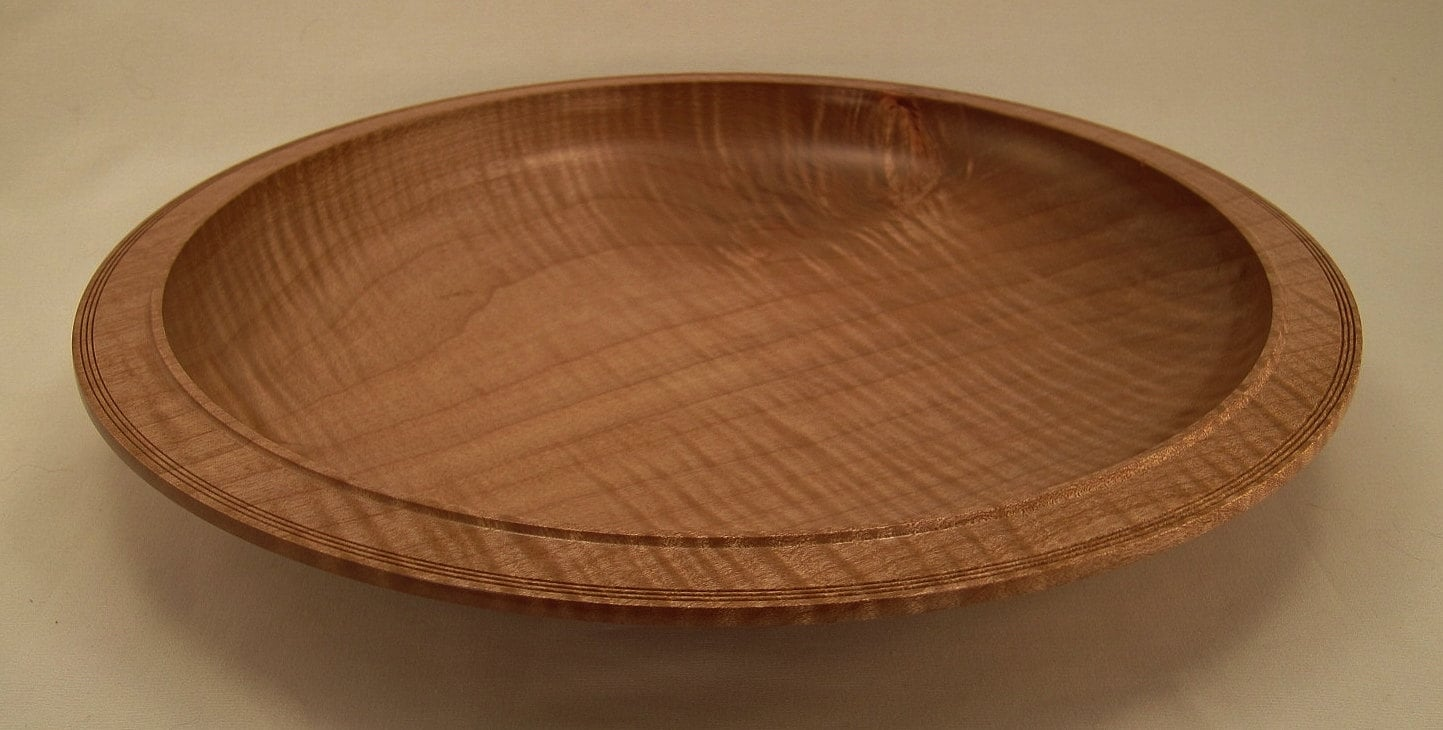 Fiddleback maple centerpiece wood bowl wooden by