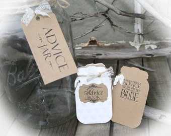 """Bridal Shower Games - Advice for the Bride -Wedding Bridal Shower Game-Tag Book- Guest Book Alternative-""""Bridal Shower""""//Bridal shower idea"""