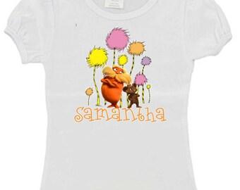 Custom Heat Pressed Birthday Shirt The Lorax Any Name