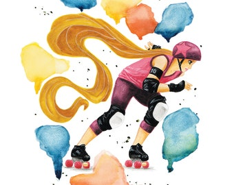 The Goldy - poster A3 - Roller Derby