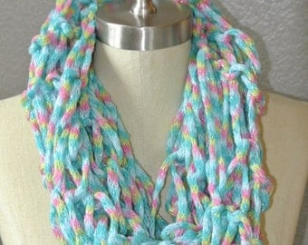 Arm Knitting Scarf, Women & Children