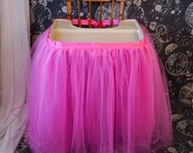 Tulle High Chair Skirt, High Chair Tutu, First Birthday Party Decoration,
