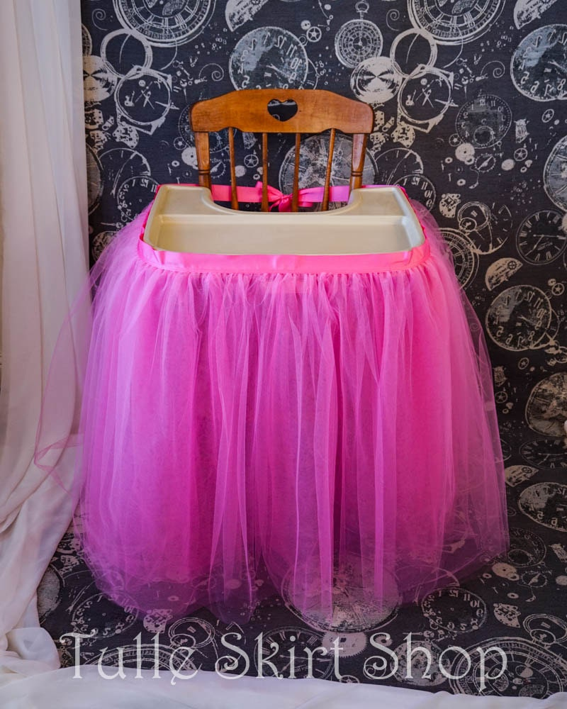 tulle high chair skirt high chair tutu birthday