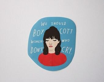 Une femme est une femme - sticker (with closed eyes)