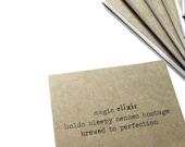50% OFF SALE ~ elixir | brew ~ haiku notebook, journal, pocket jotter, sketchbook, diary, cahier, original art, ink drawing, illustration