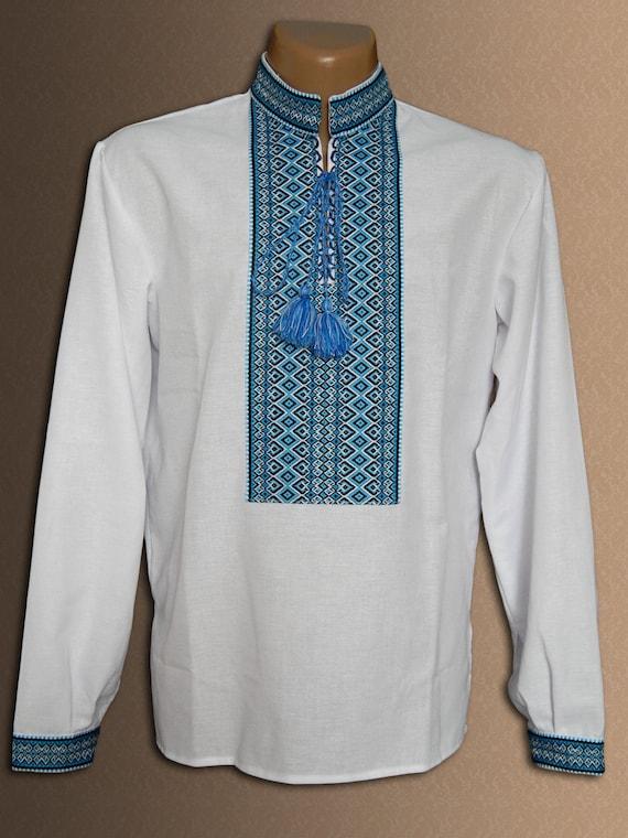 Ukrainian embroidered shirt for adult men vyshyvanka