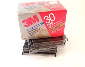 "3M 3.5"" Floppy Disks - 30 Pack - Floppy Diskettes - IBM Computer Disk - Computer Geek - Techie Accessories - Retro Crafting"