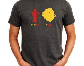 I Left My Heart In Sierra Leone  Map T-Shirt