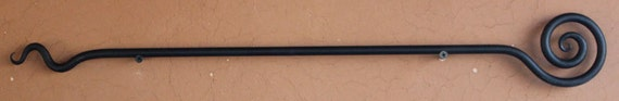 Decorative Wall Hanging Rods : Hand forged decorative hanging rod perfect for wall hangings