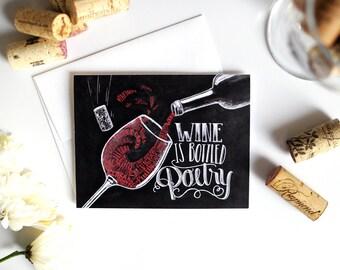 Items similar to chalkboard art wines on etsy for Wine chalkboard art