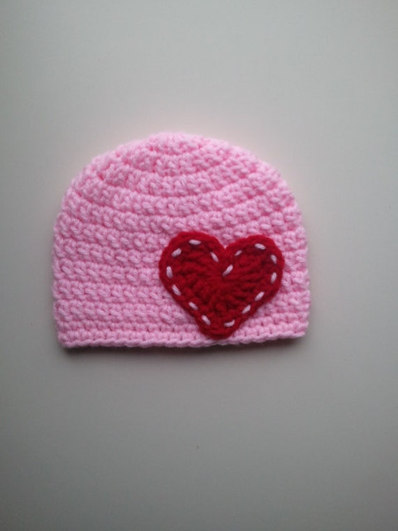 Valentines Day Hat, Crochet Valentines Day Hat, Newborn Valentine ...
