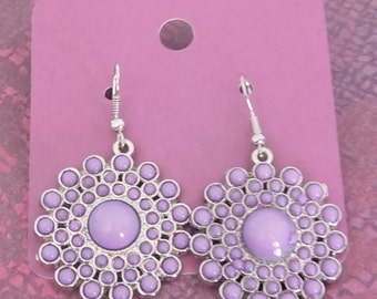Lilac Starburst Earrings