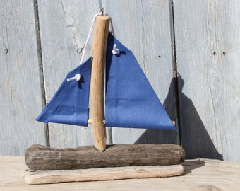 Limited edition Nautical Driftwood Sailboat made from reclaimed wood