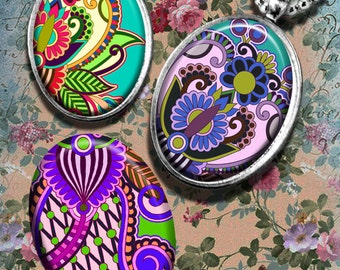 Multiplicity - 30x40 mm oval Images Digital Collage Sheet Printable download for bezel settings cabochons glass and resin pendants