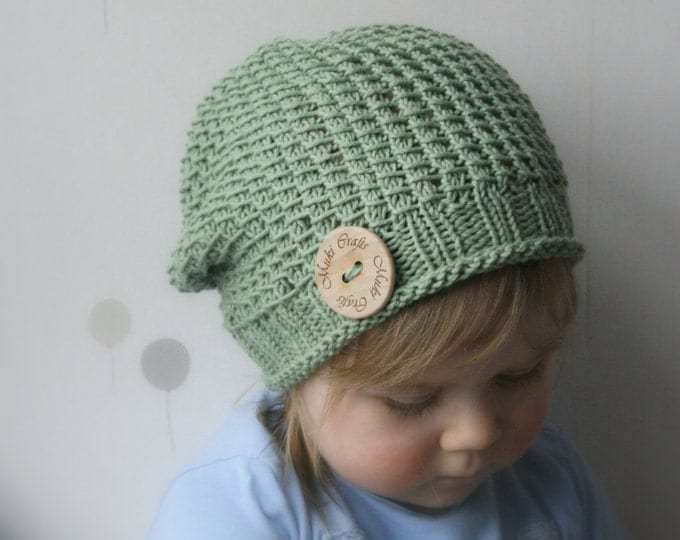 KNITTING PATTERN slouchy hat Madison (toddler, child, woman, man sizes)