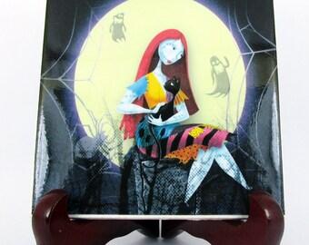 Sally The Nightmare before Christmas Ceramic Tile - Handmade from Italy - High Quality Skellington Sally Tim Burton  mod. 32