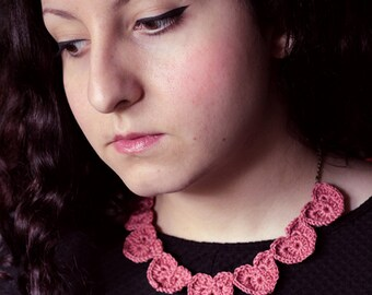 Heart Crochet Necklace, LC024
