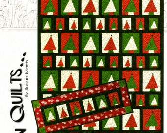 Christmas Tree Quilt Pattern, Oh Christmas Tree 204 Suzn Quilt, Christmas Table Runner Pattern, Quilt As You Go, Holiday Quilt Pattern