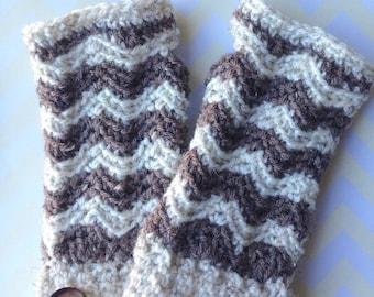 Chevron Fingerless Gloves