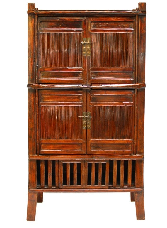 Chinese bamboo kitchen cabinet hutch for Bamboo kitchen cabinets reviews