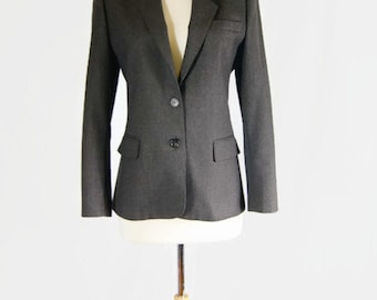 Vintage Nordstrom Town Square Pinstripe Blazer Jacket 100% Wool