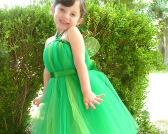 Tinkerbell Costume, Tinkerbell Dresses, Green Fairy Tutu Dress with Wings, Tinkerbell Tutu, Fairy Princess Tutu, Fairy Toddler, Halloween