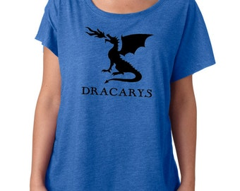 Dracarys Dragon Fire dragonfire loose fit slouchy tee top t shirt Game tshirt