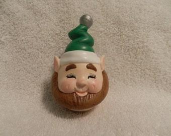 Santa's Elf Face Egg Noggin